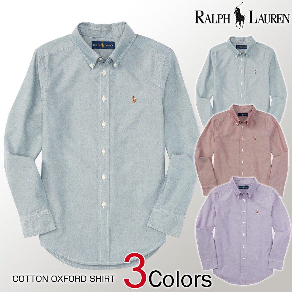 Shushubiz Polo Ralph Lauren Boys Long Sleeve Shirt Cotton Oxford