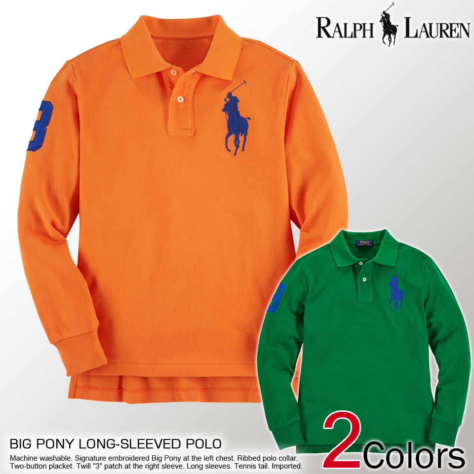 Shushubiz Polo Ralph Lauren Boys Pony Numbering Long Sleeved Polo