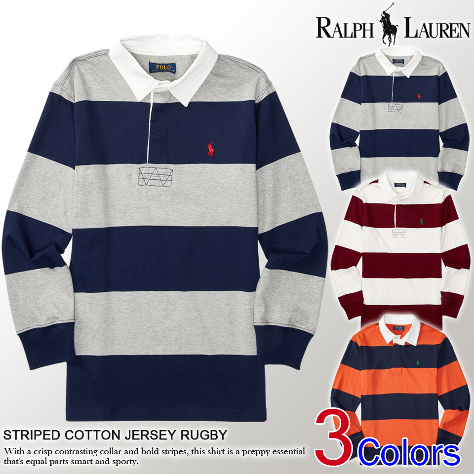 Shushubiz Polo Ralph Lauren Boys Long Sleeve Polo Shirt Striped