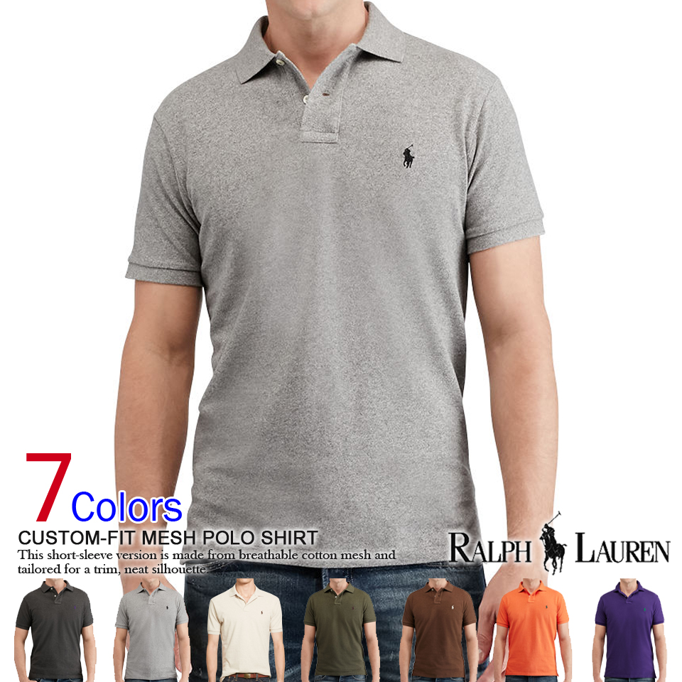 3a64874b1e6 □Polo Ralph Lauren men fawn short sleeves polo shirt Custom-Fit Mesh Polo  Shirt (87952606) S M L XL XXL supermarket SALE holding! There is the size  that is ...