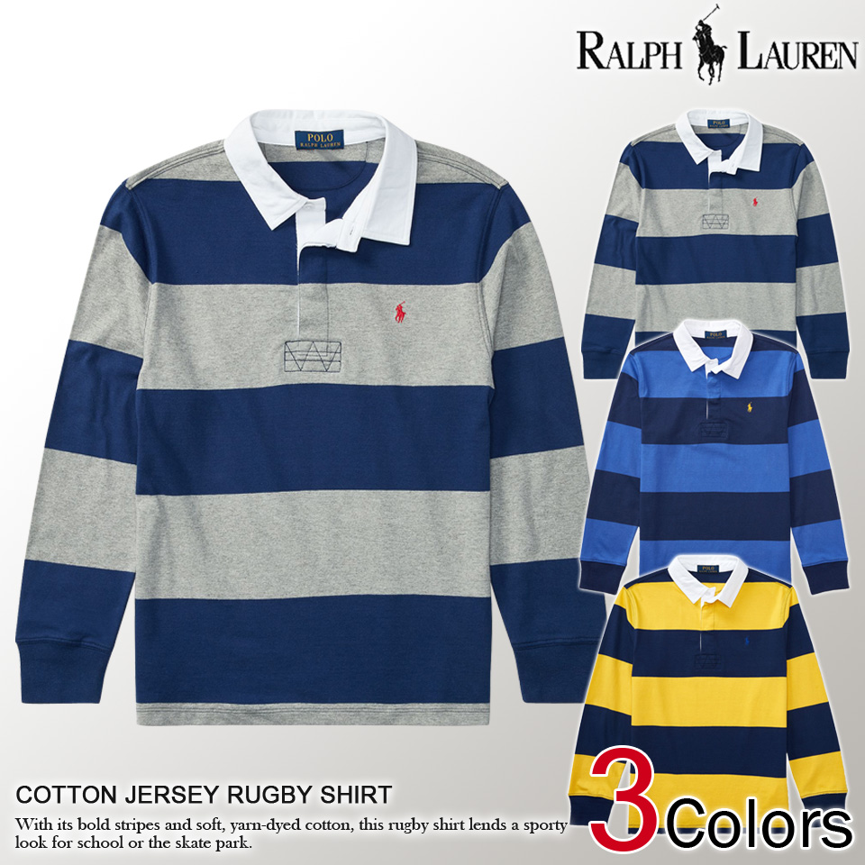 7e66e3b21c □There is the size that is big to the gift which is cool more than polo  Ralph Lauren Boys one point embroidery long sleeves polo shirt COTTON  JERSEY RUGBY ...