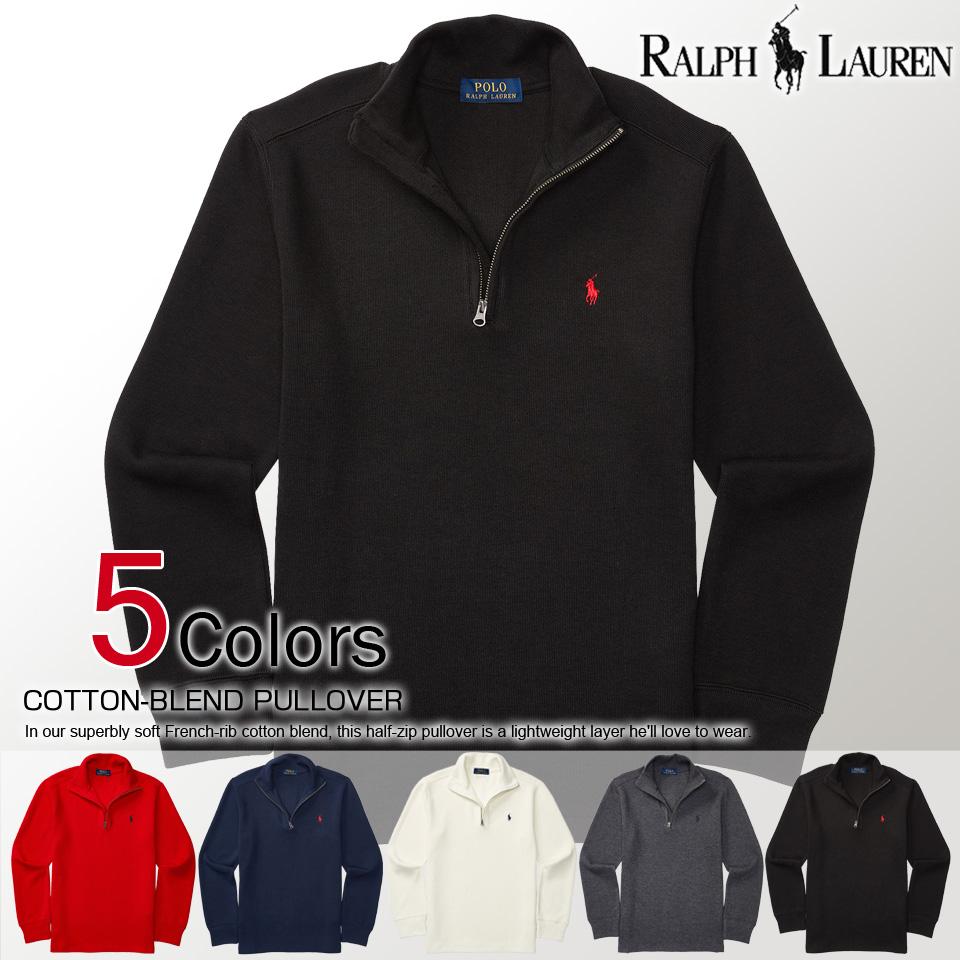 9b09c101e8c Polo Ralph Lauren boys half zip knit sweater COTTON HALF-ZIP SWEATER (8  color) (POLO RALPH LAUREN) (48766006) (L