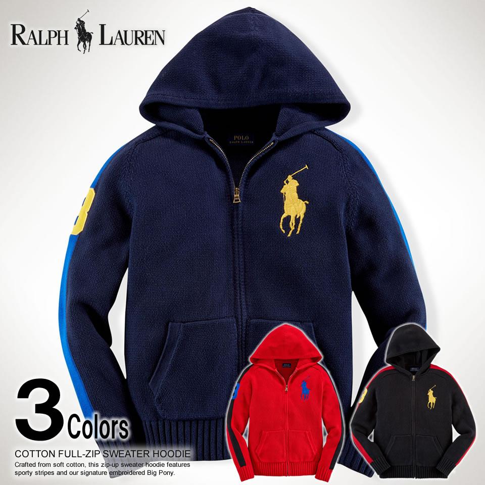 Shushubiz Polo Ralph Lauren Boys Full Zip Sweater Knit Cotton Full