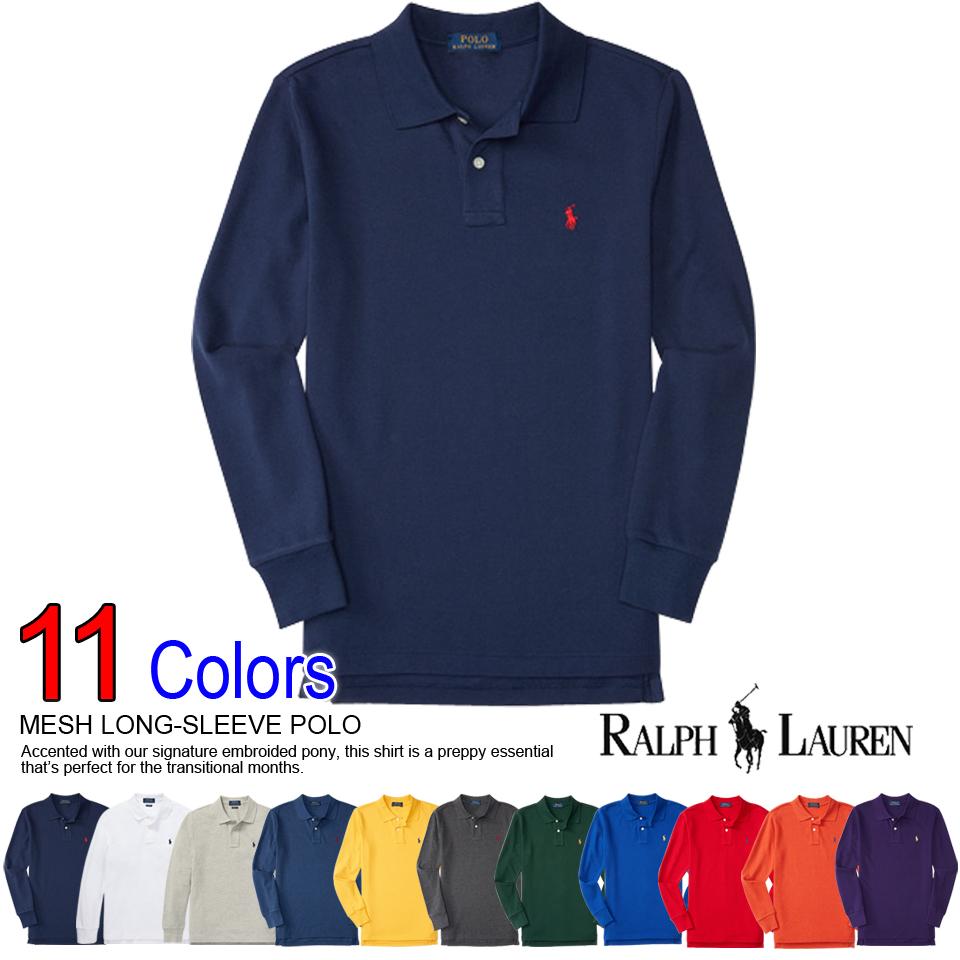 adb81656 Polo Ralph Lauren boys long sleeve polo shirt MESH LONG-SLEEVE POLO 11  color ...