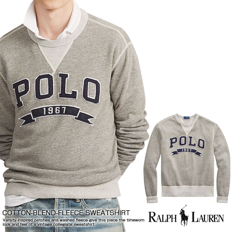 POLO RALPH LAUREN MENS NEW GENUINE COTTON CREW NECK JUMPERS ALL SIZES