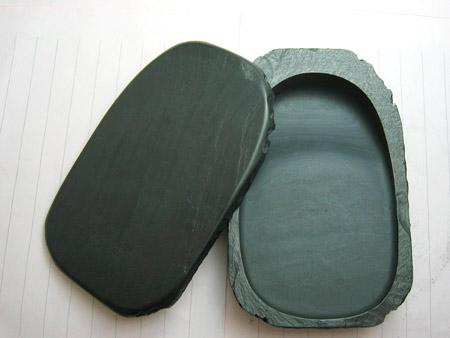 Inkstone with lid natural stone (small 46) - ogatsu - indigenous inkstone ☆ ☆