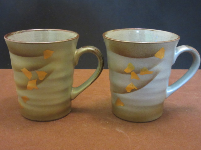 【九谷焼】 ペアマグカップ(マイカップ、陶器) 金銀彩