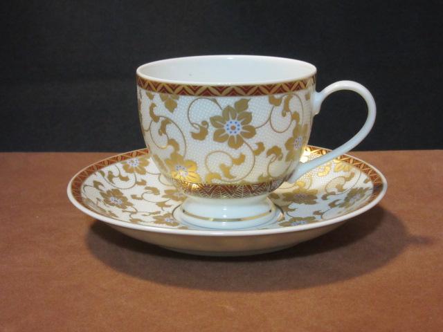 【九谷焼】  コーヒーカップ( カップ ソーサーセットコーヒー)  白粒