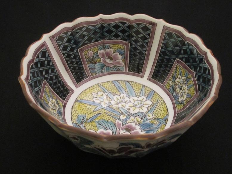 【九谷焼】 6号鉢(盛鉢 大鉢 皿 和食器 陶器) 吉田屋風