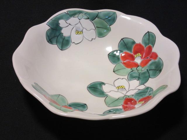 【九谷焼】 7号鉢(盛鉢 大鉢 皿 和食器 陶器) 椿