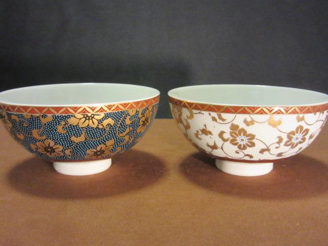 組飯碗(ご飯茶碗,夫婦茶碗,ペア 茶碗,お茶碗) 鉄仙文