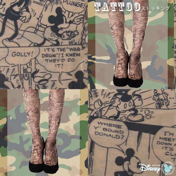 """ディズニータトゥー stockings """"comic pattern"""" ★ 20 Denier"""