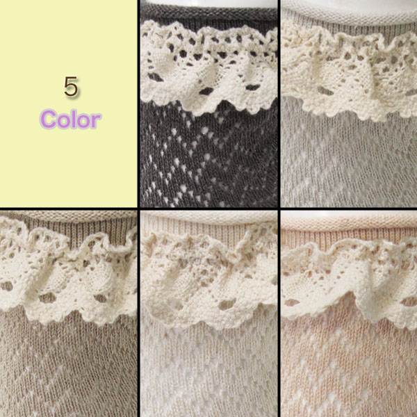 Top round ルミークルー ★ me handle and torchon lace natural ♪ cute!