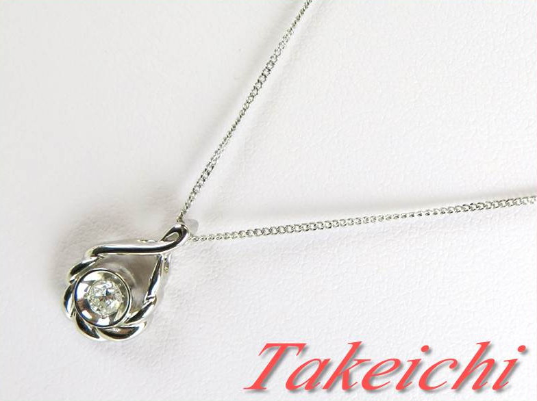 Pt850/900★ネックレス ダイヤモンド0.164ct【中古・新品仕上げ】/30123