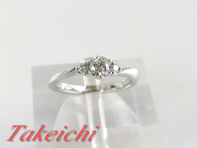 【4℃】Pt950★リング 指輪 ダイヤモンド0.205ct◇E/VS2/Excellent●6号【中古・新品仕上げ】/30845