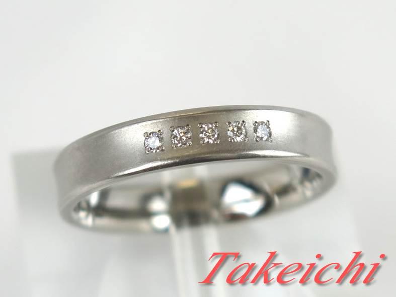 送料無料 ジュエリー アクセサリー 宝飾 Pt.G1000 指輪 有名な バンドリング 激安 お買い得 キ゛フト ダイヤモンド 新品仕上げ 32196 つや消し シンプル 14号 中古