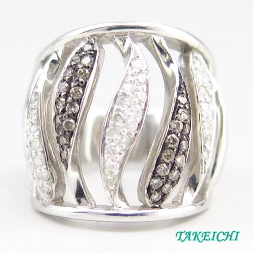 K18WG ★リング ダイヤモンド0.54ct ◇12号【中古】/10019953