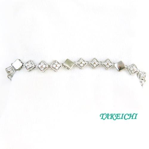 K18WG ★ブレスレット ダイヤモンド1.0ct 17.5cm【中古】/10021350