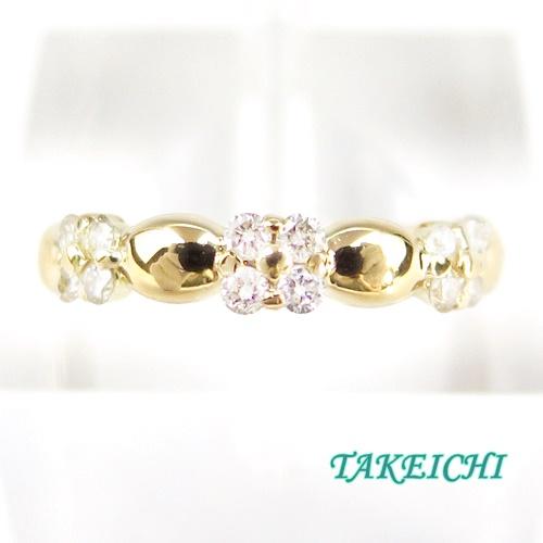 K18YG ★リング ダイヤモンド0.24ct ●11.5号 【中古】/10021369