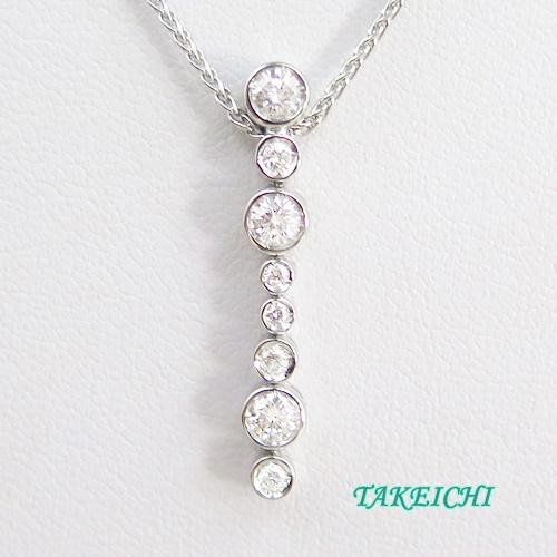 750 ★ネックレス ダイヤモンド 43cm【中古】/10021507
