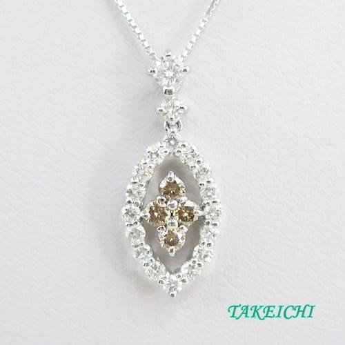 K18WG ★ネックレス ダイヤモンド0.8ct【中古】/10021618
