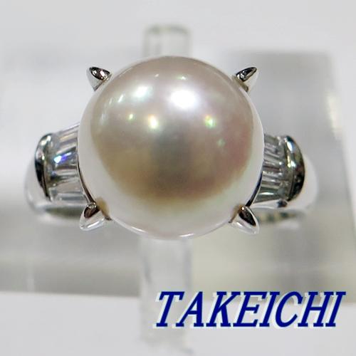 Pt900★リング 指輪 パール10mm/ダイヤモンド0.41ct◇9.5号【中古】/10004901