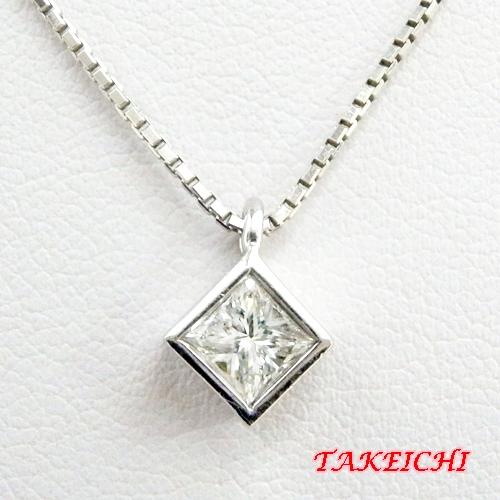 Pt900 ★ネックレス ダイヤモンド0.571ct 一粒ダイヤ【中古】/10019993
