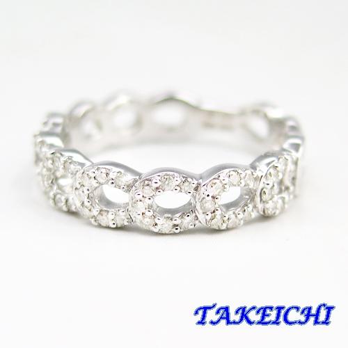K18WG ★リング ダイヤモンド0.26ct ●11号【中古】/10020110
