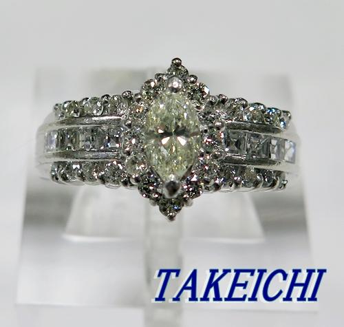 PT900★リング ダイヤモンド1.1ct◇13.5号【中古】/10020333