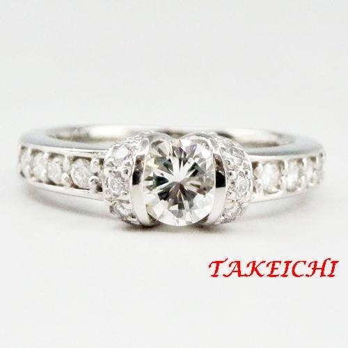 Pt900★リング ダイヤモンド0.44ct/ダイヤモンド0.34ct◇11号【中古】/10020705