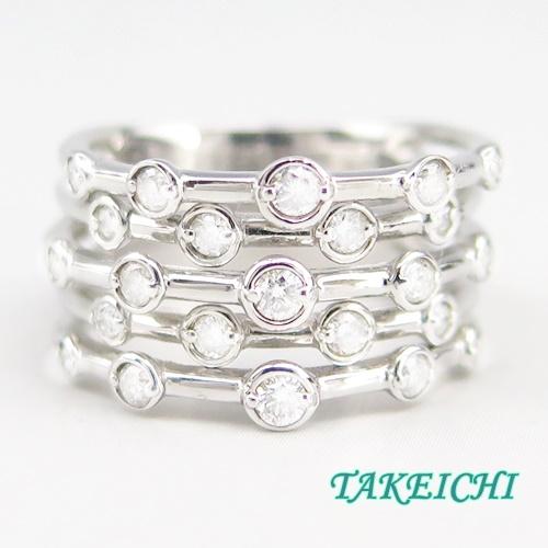 K18WG ★リング ダイヤモンド0.5ct ●11号 【中古】/10020799