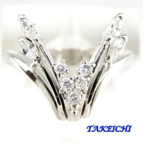 Pt900 ★リング ダイヤモンド0.32ct◇12.5号【中古】/10020802