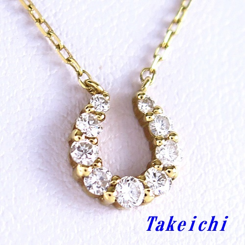 K18YG ★ネックレス ダイヤ ◇ダイヤモンド0.313ct【中古】/10021162
