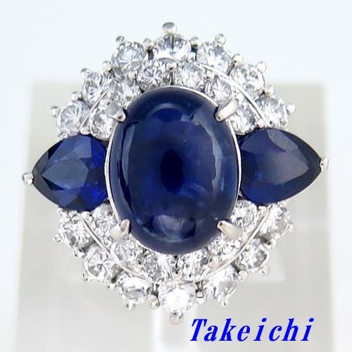 Pt900 ★リング サファイア4.92ct ◇ダイヤモンド1.67ct ●12号 【中古】/ 10018813