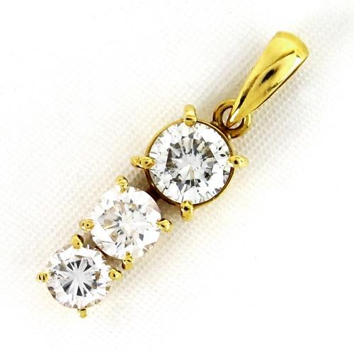 K18YG ★ペンダントトップ ダイヤ ゴールド ◇ダイヤモンド1.00ct 【中古】/10020430
