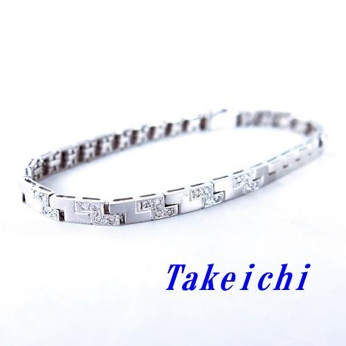 K18WG ★ダイヤ ブレスレット ◇ダイヤモンド0.20ct ●13cm【中古】/10021365