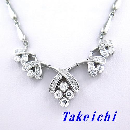 Pt900/Pt850 ★ネックレス ダイヤ ◇ダイヤモンド0.70ct【中古】/10021383