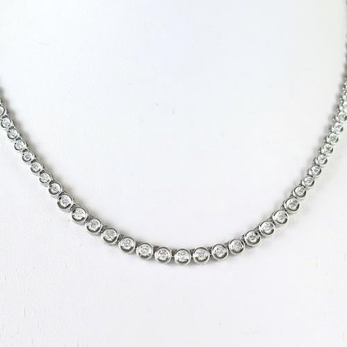 Pt900 ★ネックレス ダイヤモンド◇ダイヤモンド2.00ct ●40cm【中古】/10021412