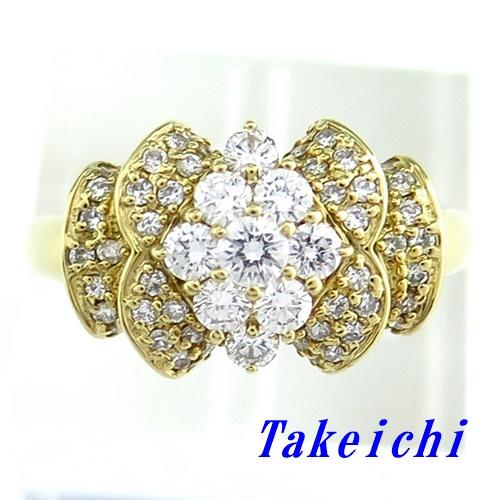 K18YG★リング ダイヤ ◇ダイヤモンド1.00ct ●22.5号 【中古】/10021627