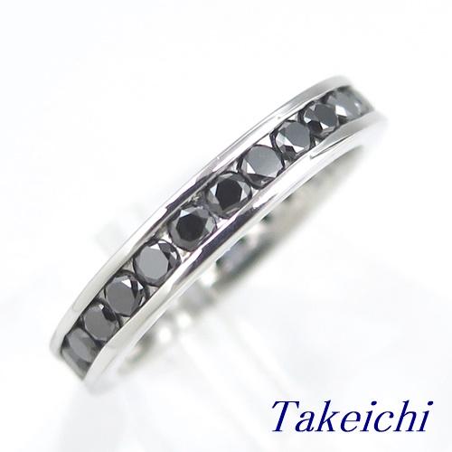 K18WG ★リング ◇ブラックダイヤモンド 1.060ct ●11.5号 ◆ソーティング付き【中古】/10018818