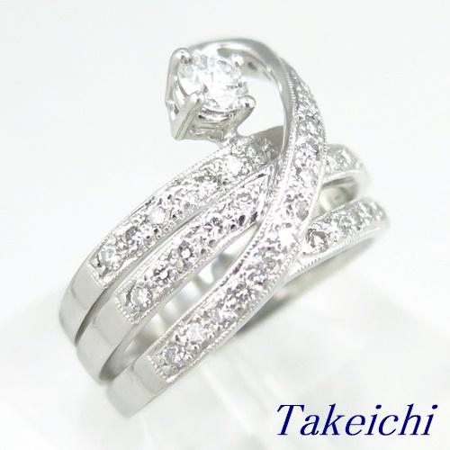 Pt900 ★リング ◇ダイヤモンド 0.310ct/0.670ct ●11号 ◆【中古】/10019107