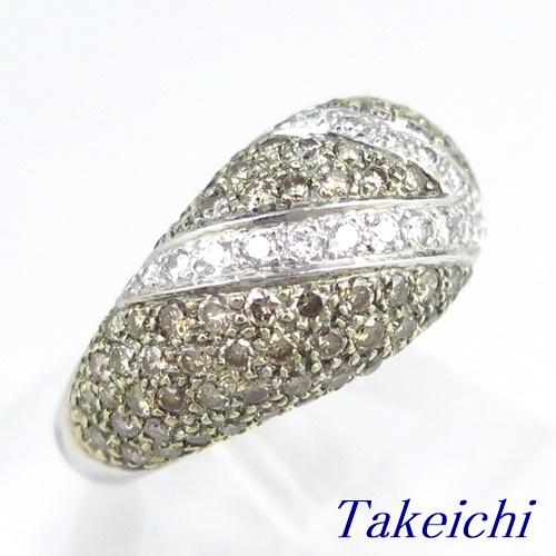 K18WG ★リング ◇ダイヤモンド 1.850ct/0.390ct ●12号 ◆【中古】/10019273