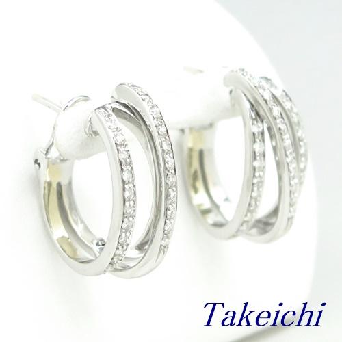750 ★ピアス ◇ダイヤモンド ◆ソーティング付き【中古】/10019807