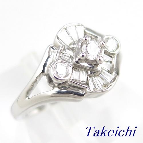 K18WG ★リング ◇ダイヤモンド 0.450ct ●12号 ◆【中古】/10020190
