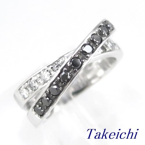 K18WG ★リング ◇ブラックダイヤモンド 0.570ct ダイヤモンド ●11号 ◆ソーティング付き【中古】/10020226