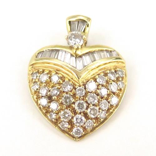 K18YG ★ペンダントトップ ◇ダイヤモンド0.790ct ◆【中古】/10020263