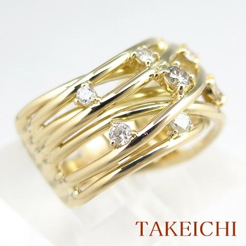 K18YG ★リング ★ダイヤモンド 0.500ct ●9.5号 ◆【中古・新品仕上げ済み】/10020366