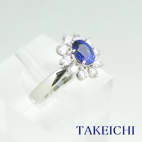 Pt900 ★リング ★サファイア 0.940ct ◇ダイヤモンド 0.630ct ●13号 ◆【中古】/10021503