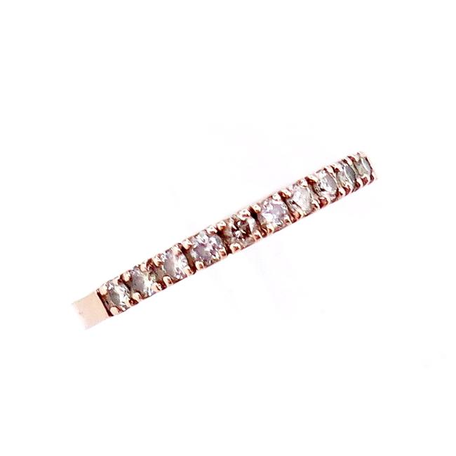送料無料 ピンクゴールド リング 指輪 5☆好評 ブラックダイヤモンド K10PG 10021200 9号 豪華な ブラックダイヤモンド0.200ct 4月誕生石 中古