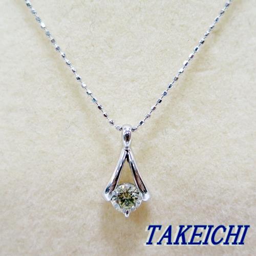 K18WG★ネックレス ダイヤモンド0.3ct◇40cm【中古】/10005173